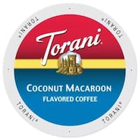 Torani Coffee Coconut Macaroon Flavor Single Serve K-Cup Brewers Pack