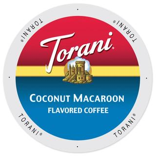 Torani Coffee Coconut Macaroon Flavor Single Serve K-Cup Brewers Pack (2 options available)