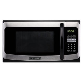 Black and Decker 1000W Microwave, Stainless Steel