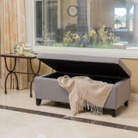 Breanna Fabric Storage Ottoman by Christopher Knight Home