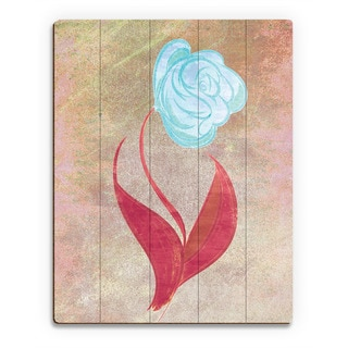 Celest Colored Rose Wall Art on Wood