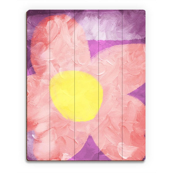 Delighted Flower' Wood Wall Art