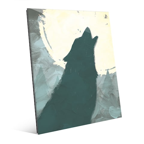 Howling to the Moon' Glass Wall Art