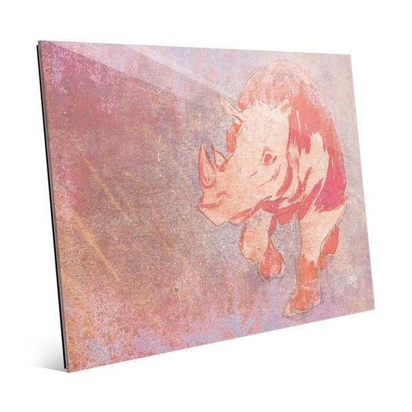 Terracotta Rhino Glass Wall Art - Free Shipping Today - Overstock ...