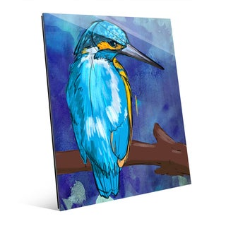 KIngfisher on Blue Wall Art on Glass