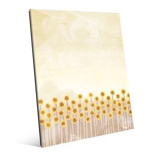 'Sunflower Harvest' Glass Wall Art