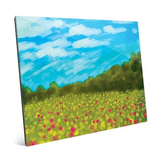 Flower Field II Wall Art on Glass