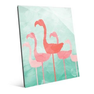 Flamingo Line Pistachio Wall Art on Acrylic
