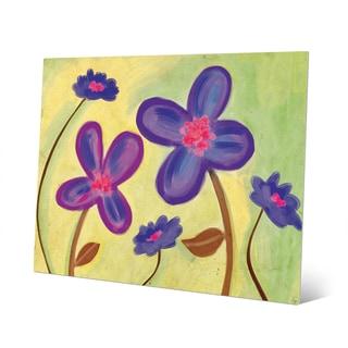 Purple Wild Flowers Wall Art on Metal