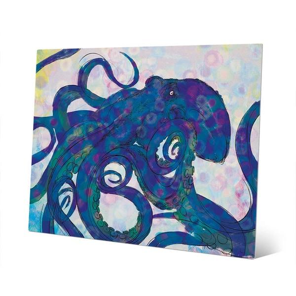 Shop Indigo Octopus Wall Art on Metal - Free Shipping ...