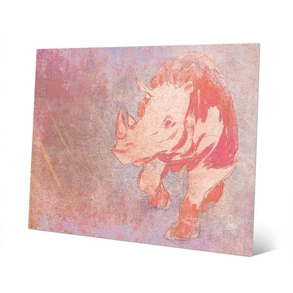 Terracotta Rhino Wall Art on Metal - Free Shipping Today - Overstock ...