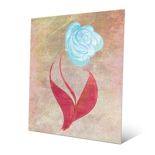Celest Colored Rose Wall Art on Metal