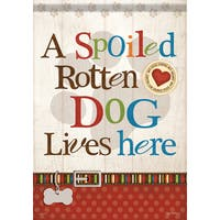 Carson Home Accents 'Spoiled Rotten Dog' Multicolored Synthetic Flagtrends Garden Flag