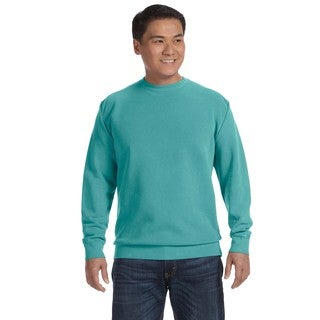 Men's Seafoam Fleece Big and Tall Garment-dyed Crew-neck Sweater