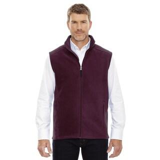 Journey Men's Burgundy Fleece Big and Tall Vest