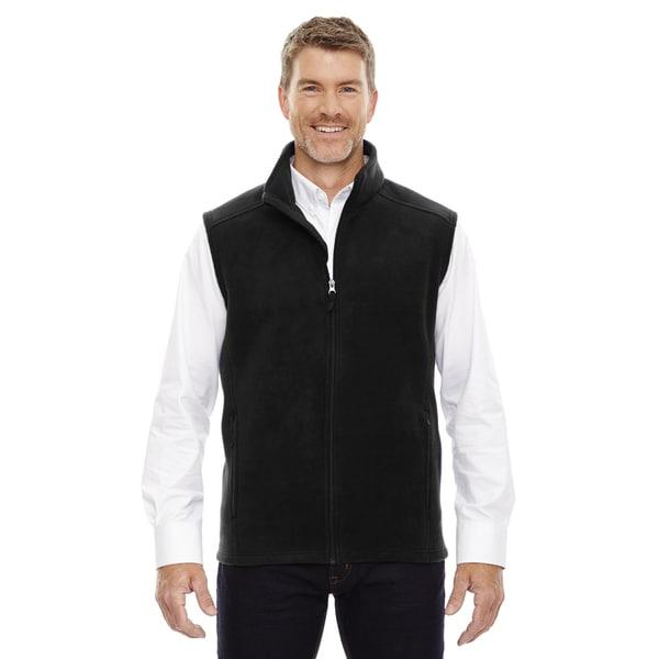 Mens Big and Tall Black Fleece Vest