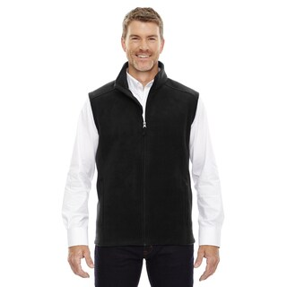 Men's Big and Tall Black Fleece Vest