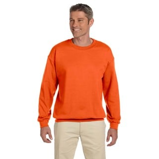 Men's Super Sweats Safety Orange 50/50 Nublend Fleece Big and Tall Crewneck Sweater