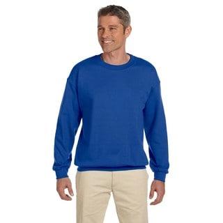50/50 Super Sweats Nublend Fleece Men's Big & Tall Crew-Neck Sweater Royal