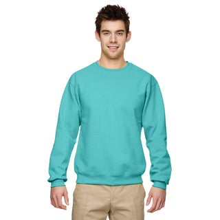 Men's Scuba Blue 50/50 Nublend Fleece Big and Tall Crew-neck Sweater