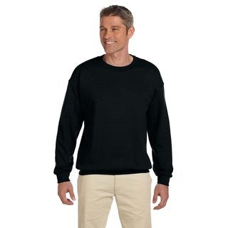 Super Sweats Men's Nublend Black Cotton/Polyester Fleece Big and Tall Crewneck Sweater