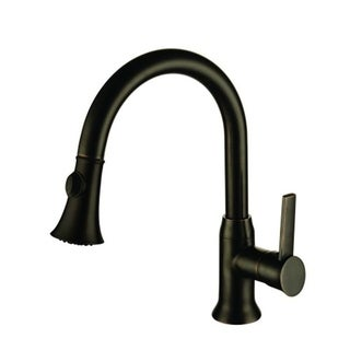 Lazaro Oil Rubbed Bronze Finished Brass Single Handle Kitchen Faucet with Pull-out Sprayer