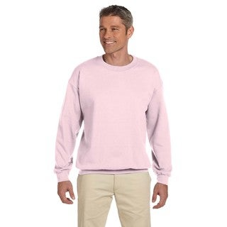 Men's Super Sweats Classic Pink 50/50 Nublend Fleece Big and Tall Crewneck Sweater