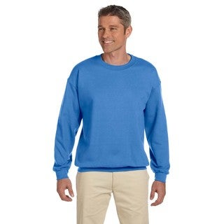 Men's Super Sweats Columbia Blue 50/50 Nublend Fleece Big and Tall Crewneck Sweater