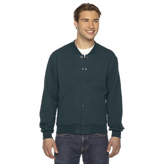 American Apparel Unisex Forest Green Fleece Big and Tall Flex Club Jacket