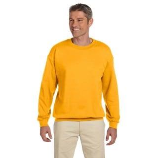 Men's Super Sweats Gold 50/50 Nublend Fleece Big and Tall Crewneck Sweater
