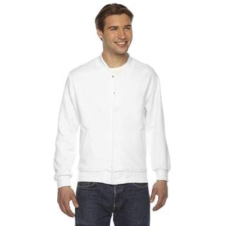 American Apparel Unisex White Flex Fleece Big and Tall Club Jacket