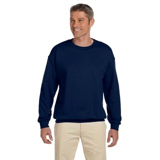 Men's Super Sweats J Navy 50/50 Nublend Fleece Big and Tall Crewneck Sweater