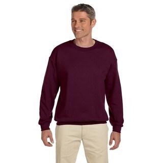 Men's Super Sweats Maroon 50/50 Nublend Fleece Big and Tall Crewneck Sweater