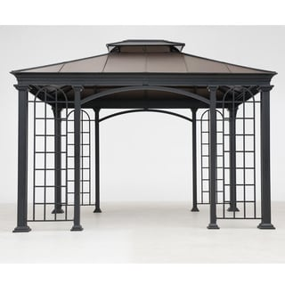 Sunjoy Summerville Faux Copper Top Aluminum/Steel 12-feet x 10-feet Gazebo