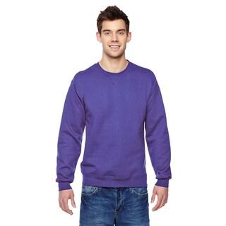 Men's Sofspun Purple Cotton/Polyester Big and Tall Crewneck Sweatshirt
