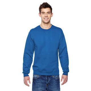 Sofspun Men's Royal Blue Fleece Big and Tall Crew-neck Sweatshirt