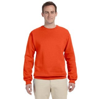 50/50 Nublend Men's Big and Tall Burnt Orange Fleece Crew-neck Sweater