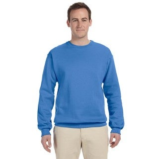 Men's Columbia Blue 50/50 Nublend Fleece Big and Tall Crew-neck Sweater