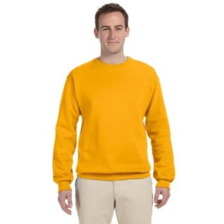 Men's Nublend Gold Cotton/Polyester Fleece Big and Tall Crewneck Sweater