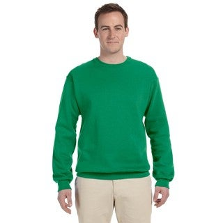 Men's Kelly Green 50/50 Nublend Fleece Big and Tall Crewneck Sweater