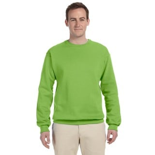 Men's Big and Tall Kiwi Green Cotton/Polyester Crewneck Sweatshirt