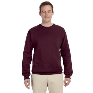 Men's Maroon 50/50 Nublend Fleece Big and Tall Crew-neck Sweater