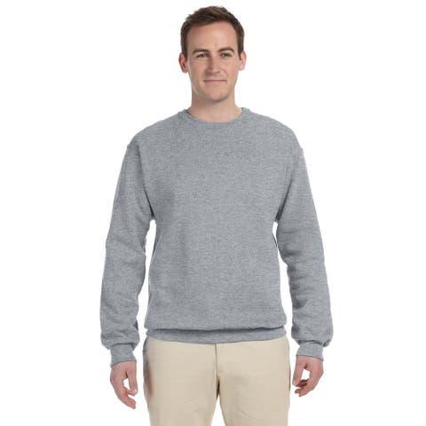Men's 50/50 Nublend Fleece Big and Tall Crewneck Oxford Sweater