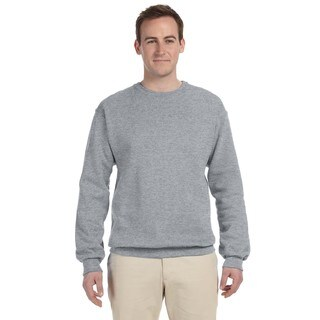 Men's 50/50 Nublend Fleece Big and Tall Crewneck Oxford Sweater
