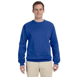 50/50 Nublend Men's Big and Tall Royal Fleece Crew-neck Sweater