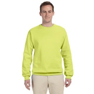 Men's Safety Green 50/50 Nublend Fleece Big and Tall Crew-neck Sweater