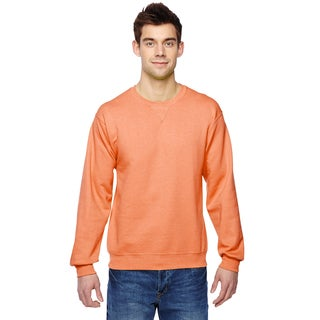 Men's Big and Tall Orange Cotton-blended Sofspun Crewneck Sweatshirt