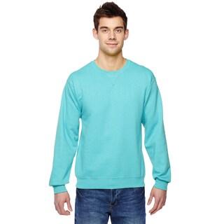 Men's Sofspun Scuba Blue Cotton/Polyester Big and Tall Crewneck Sweatshirt