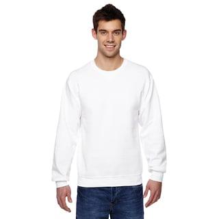 Men's Sofspun White Cotton/Polyester Crewneck Big and Tall Sweatshirt