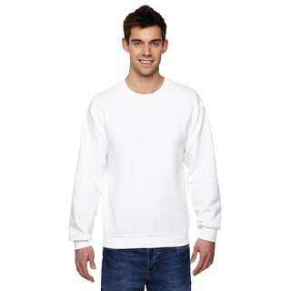 Men's Sofspun White Cotton/Polyester Crewneck Big and Tall Sweatshirt